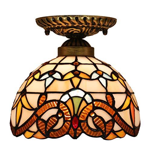 Odziezet Iluminación de techo Tiffany Estilo Lámpara Focos de techo de la Sala de Estar de la Barra