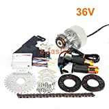 L-faster 450W Newest Electric Bike Left Drive Conversion Kit Can Fit Most of Common Bicycle Use Spoke Sprocket Chain Drive for City Bike(36V Twist Kit)