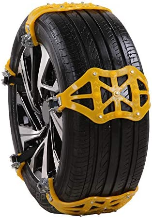 Ice Road and Mud Sand m/·kvfa Tire Snow Chains Anti Slip Tire Chains Universal Safety Emergency Snow Chain for Cars SUV Truck on Snow