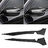 MyEstore Accessori Esterni Car Grande 2 Carbon Fiber PCS Car Specchio retrovisore Striscia Adesivo Decorativo for BMW G30 (2018-2019) / G11 (2016-2019), a Sinistra con la Macchina Fotografica