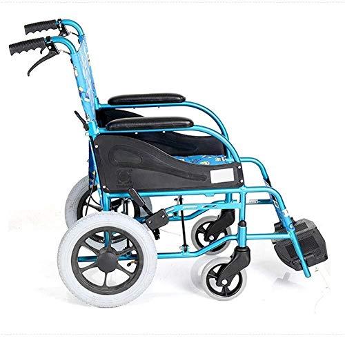 silla de ruedas Silla de ruedas manual plegable multifuncional Ligera infantil, conveniente for los niños lleven Ultra Light-silla de ruedas plegable de aluminio silla de ruedas manual hg silla de rue ✅