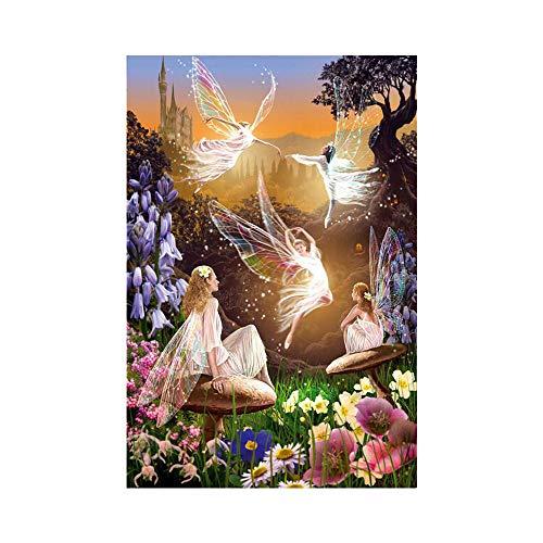 Eastdall Pintar Com Diamantes,DIY 5D Diamond Painting W030 Angel the elf 40X30 Broca completa de cristal strass bordados pinturas artes artesanais para decoração de paredes de casa