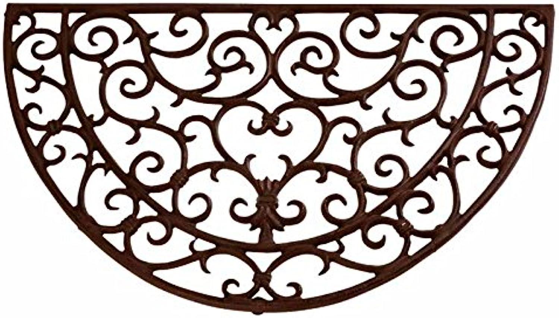 Esschert Design Doormat in Antique Rust, Half Round