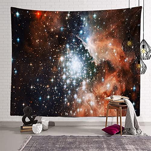 KHKJ Astronaut Planet Tapiz cabecero de Pared Arte Colcha Dormitorio Tapiz para Sala de Estar Dormitorio decoración del hogar A10 200x150cm
