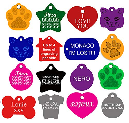 CNATTAGS Dog ID Tags Personalized