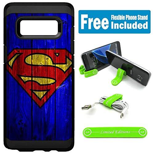 for Samsung [Galaxy S10 Plus] [Galaxy S10+] Hybrid Rugged Hard Cover Case - Superman Wood Blue