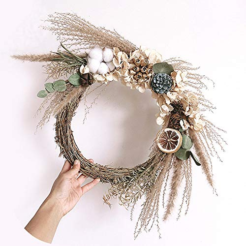 Luottus Christmas Wreath Making Kit DIY Dried Flower Garland Wreath Supplies for Christmas Wedding Decoration