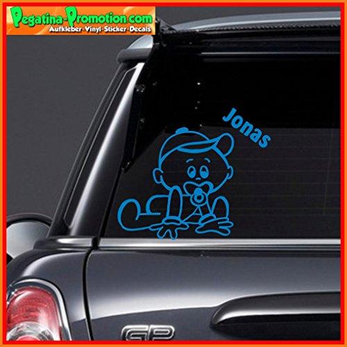 """Hochwertiger Namens Aufkleber \"""" Jonas \"""" Autoaufkleber Name Aufkleber Wandtattoo Aufkleber für Glas,Lack,Tür und alle glatten Flächen, viele Farben zur Auswahl,Auto Sticker Baby an Bord, Kindername,Namensaufkleber"""