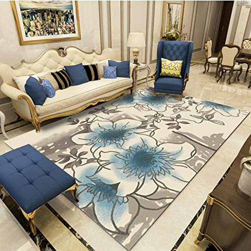 SN HUIPENG - Alfombras grandes modernas para sala de estar, alfombra nórdica, hecha a medida, geométrica, tamaño grande, hotel, dormitorio, cocina, alfombra de vinilo antideslizante de 200 x 300 cm