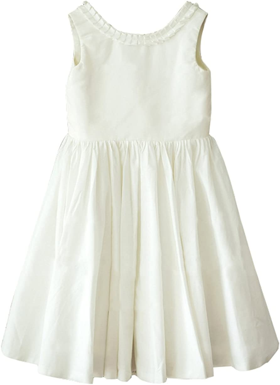 flowerry Ivory Satin Flower Girl Inventory cleanup selling 2021 model sale Classic For Toddle Design Dress
