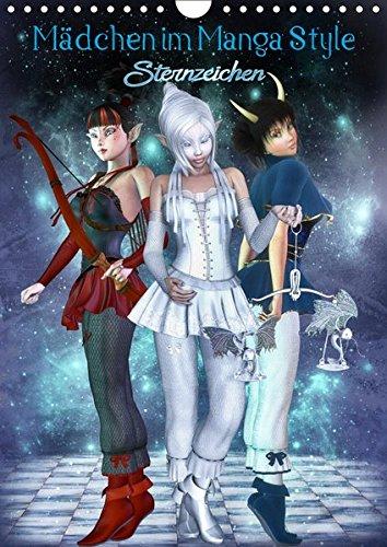 Mädchen im Manga Style (Sternzeichen) (Wandkalender 2019 DIN A4 hoch): Die beliebten Manga Mädels im Zeichen der Sterne. (Monatskalender, 14 Seiten ) (CALVENDO Wissenschaft)