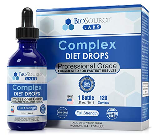 BioSource Labs Complex Diet Drops – Weight Management Drops for Rapid and Lean Loss, Best Natural Metabolism Booster for Men and Women (1 x 2-Ounce Bottle)
