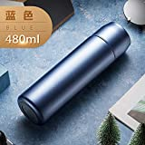 LKJJTG Travel Mugs Coffee Cups, LED touch display temperature, 24-hour long-term insulation, Double Walled Vacuum Cup Flask Thermo-blue