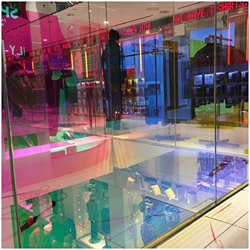 (29,95€/m²) Dichroic Flachglasfolie Gebäudefolie Fensterfolie 1 Meter Länge Folie Gebäude Fenster Glas Chameleon Regenbogen Effekt Effektfolie (Bahamas, 49cm x 1m)