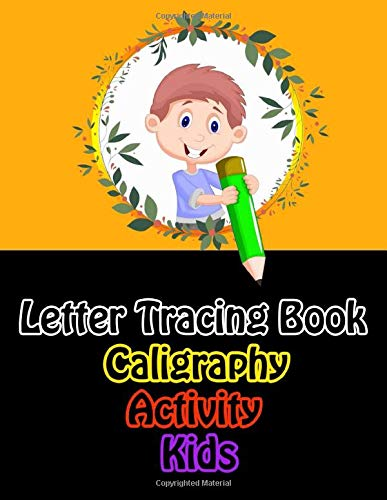letter tracing book caligraphy activity kids: Modern Calligraphy Practice Sheets - 100 sheet pad 8.5 x 11 inches