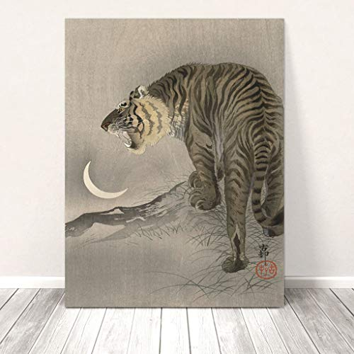 Beautiful Vintage Japanese Wild Animal Art ~ CANVAS PRINT' Tiger Koson Paintings Oil Painting Original Drawing Poster Photo Wall (8x10inch NO Framed)