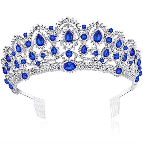 ArtiDeco Tiara de cristal para novia, para cumpleaños, boda, fiesta, novia, accesorios,...