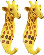 Yardwe 2 stks Rustieke Giraffe Hoofd Enkele Decoratieve Wandhaak Hanger Vintage Dierlijke Jas Hoed Haak Zware Decoratieve ...