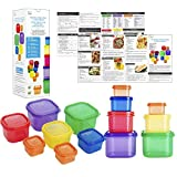 Home Spirit Proper Portions Containers for Weight Loss for Adults, 21 Day Diet and Food Plan, Bariatric Portion Control Cups, 2 Sets of 14 Containers, Sized for Daily Calorie Intake