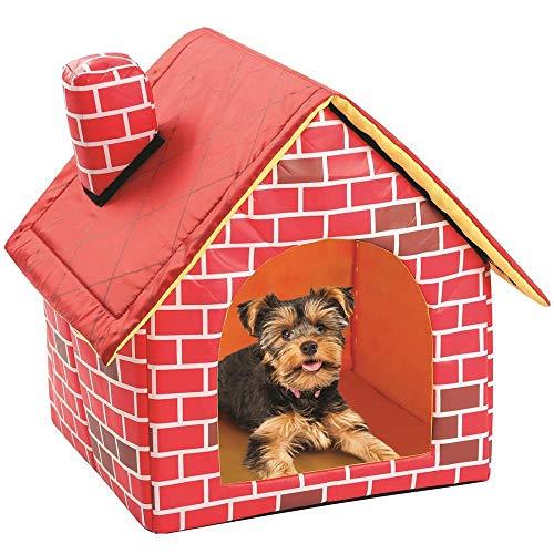 Hundekissen Hundematte Hundebett Tragbares Backstein-Haustier-Hundehaus Warmes Und Gemütliches Katzenbett Hundehütte Für Haustiere Katzenwelpe Heimtiere Abnehmbares Reisehaus