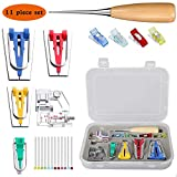 Bias Tape Makers-Sewing Bias Tape Maker Kit All 4 Sizes 6mm 12mm 18mm 25mm Handmade Sewing Tools Tape Binding Presser Foot and Awl Widely Used in Various Brands of Sewing Machines and DIY