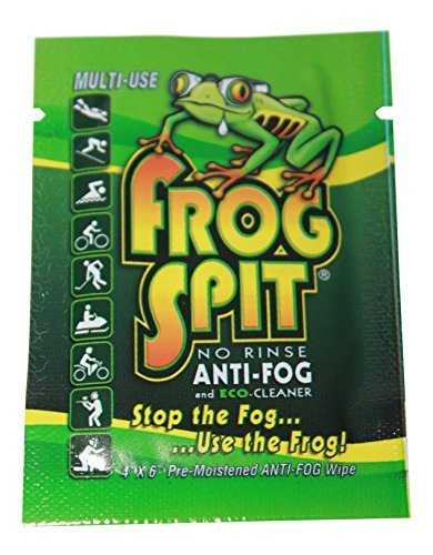 Frog Spit No Rinse Anti-Fog Wipes Eco Friendly- Made in America (Pack of 12)