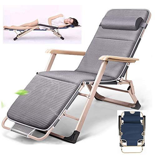 LLCA Sonnenliege Klappbar Liegestuhl Verstellbar Klappliegestuhl für Forbedroom Wohnzimmer und Außenterrasse Camping Freizeit Garten StrandStyle 2