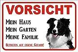 AdriLeo Schild Vorsicht Border Collie Mein Haus 15x20 oder 20x30 (20x30cm)