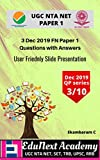 3 Dec 2019 First Session Paper 1 UGC NTA NET Question paper with answers (Dec 2019 Paper 1) (English Edition)