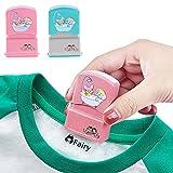 Sello de nombre personalizado autoentintado DIY para niños Nombre del estudiante Capítulo de ropa...