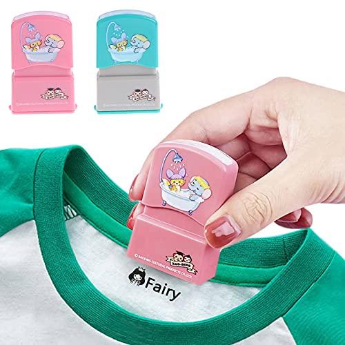 Sello de nombre personalizado autoentintado DIY para niños Nombre del estudiante Capítulo de ropa Personalizado No es...