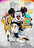 Disney Mickey 5D diamante pintura DIY incrustado punto de cruz diamante pintura set artesanía regalo(19.7x27.6inch)