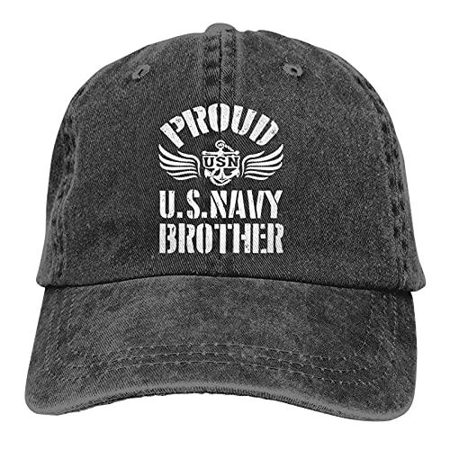 Dyfcnaiehrgrf Proud Us Navy Brother Unisex suave Casquette Cap Moda Sombrero Vintage Ajustable Gorra de Béisbol Moda