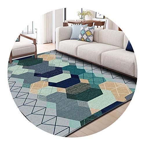 Nordic Style Geometric Pattern Carpet Large Size Living Room Bedroom Tea Table Rugs,9,50x80cm