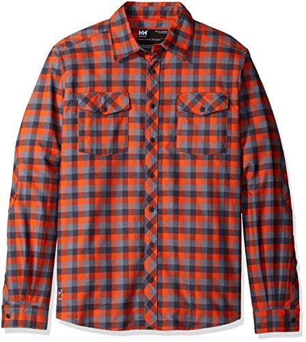 Helly Hansen Workwear Flanellhemd Vancouver Shirt Arbeitshemd, M, orange, 79100
