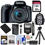 Canon PowerShot SX70 HS 4K Wi-Fi Digital Camera with 32GB Card + Battery & Charger + Flash + Backpack + Tripod + Kit