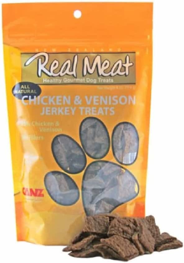 The Real Meat Company 828005 Dog Treat Super beauty product restock 2021 quality top Jerky Venison 4- Chicken