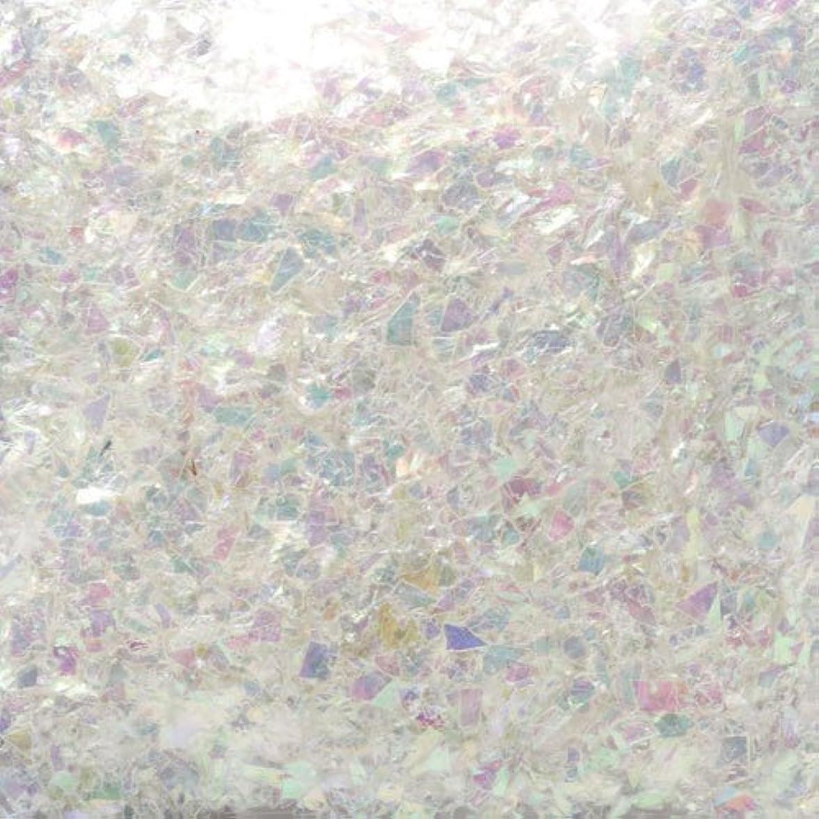 ジャケット悲しむポゴスティックジャンプピカエース ネイル用パウダー ピカエース 乱切オーロラ #710 ホワイト 1g アート材