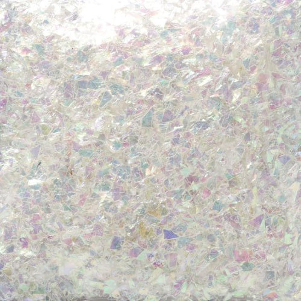 クラッシュ決定する湖ピカエース ネイル用パウダー ピカエース 乱切オーロラ #710 ホワイト 1g アート材