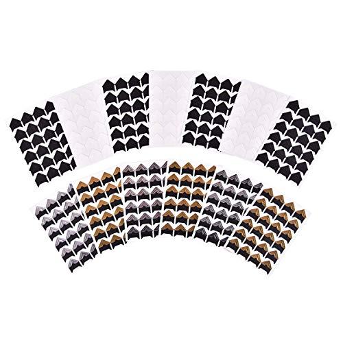 iGadgitz Home U7014 - Fotoecken Selbstklebend in verschiedenen Farben - Schwarz, Weiß, Gold oder Silber - Fotoecken zum Aufhängen, Fotoecken Aufkleber - Mehrfarbig - 312 Stücke