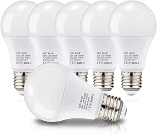 LED電球 E26口金 電球 100W形相当 12W 1250lm 広配光タイプ 省エネ 高演色 密閉形器具 断熱材施工器具対応 (6個 電球色)