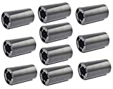 LampVPath 10PCS AA to C Size Battery Adapter Case, AA to C Size Spacers, AA to Size C Battery Adapter Converter Case(10 Pack Black)