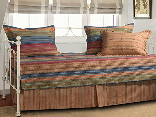 Greenland Home Katy Daybed Bedding Set, 3'3 inches X 6'3 inches, Multi