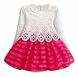 DAY8 Fille 2 à 7 Ans Vetement Robe Princesse mode Hiver Robe Soirée Fille Chic ete pas cher Robe Enfant Fille Fashion Printemps...