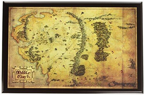 The Noble Collection - Mapa Señor Anillos Tierra
