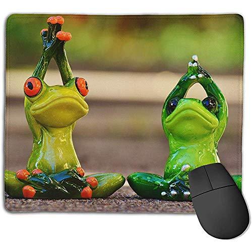 rutschfeste Mousepad Persönlichkeit Desings Gaming Mousepad Frösche Yoga Gymnastik lustige Grafiken