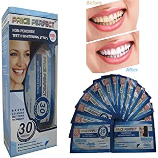 Teeth Whitening Strips - 28 Price Perfect Professional Top Quality Tooth White Strips. Unlike other Stain Removing Teeth Bleaching, Whitening Pens or Whitener Gel these Whiter Smile Strips contain no Peroxide and are non-sensitive. Revolutionary 30 Minute Home 14 Days Treatment with free shade guide:Superhyipmonitor