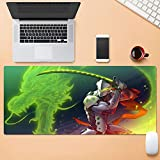 Tonjaberg Precision Sewing Edge Mouse Pad / Overwatch Genji Game Mouse Pad / XL XXL Anime Mouse Cushion Anti-Slip / Destination / Office Mouse Pad-31.4 inch × 15.7 inches (800 mm 400 mm)