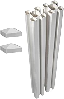 WamBam Traditional 2-Pack Premium Vinyl Posts with Caps, 6 by 4.5-Inch