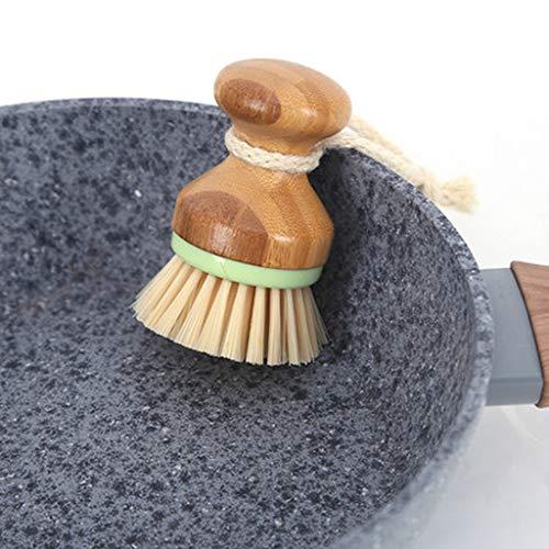 Brosse de nettoyage, Hunpta 1 Lot de cuisine antiadhésif d'huile Lavage de la vaisselle Nettoyage Palm Brosse café